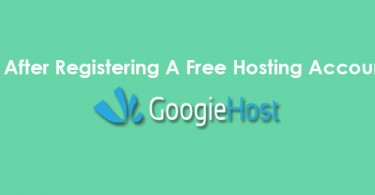 After Free Hosting Account Registartion
