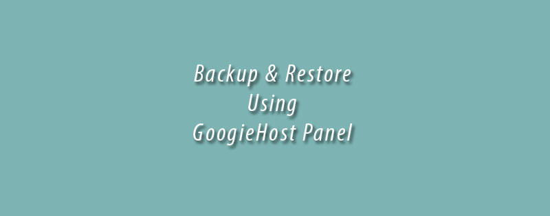 Create And Restore Backups Using GoogieHost Panel