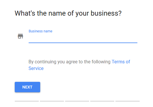 google my business account