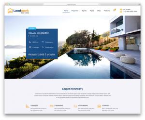 WordPress Real Estate LandMark Theme