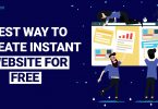 Create Instent Website for free