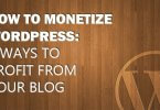 Monetize Wordpress