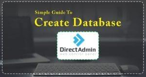 create database in directadmin