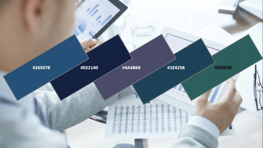 business website colour