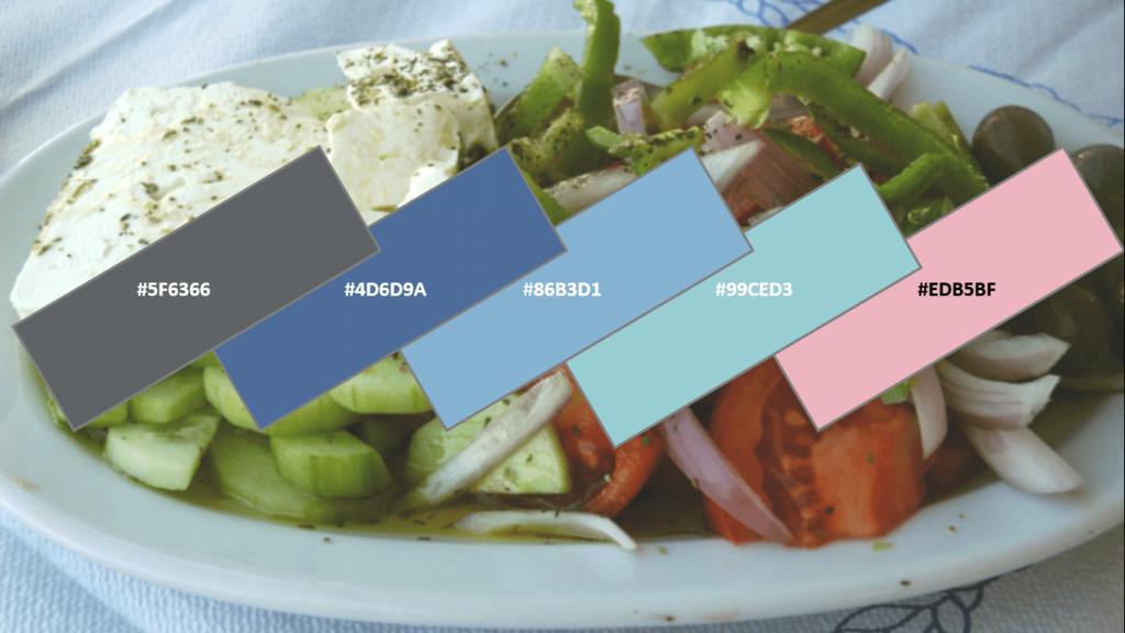 food website color combination