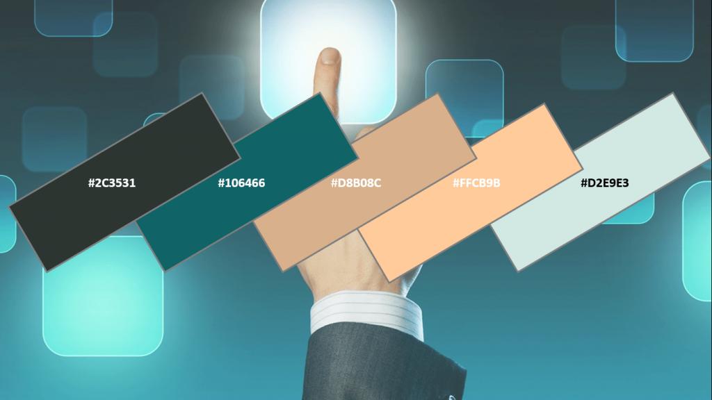 website color for tech webste