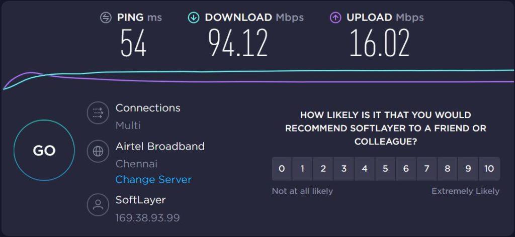 ivacy VPN Speed Test