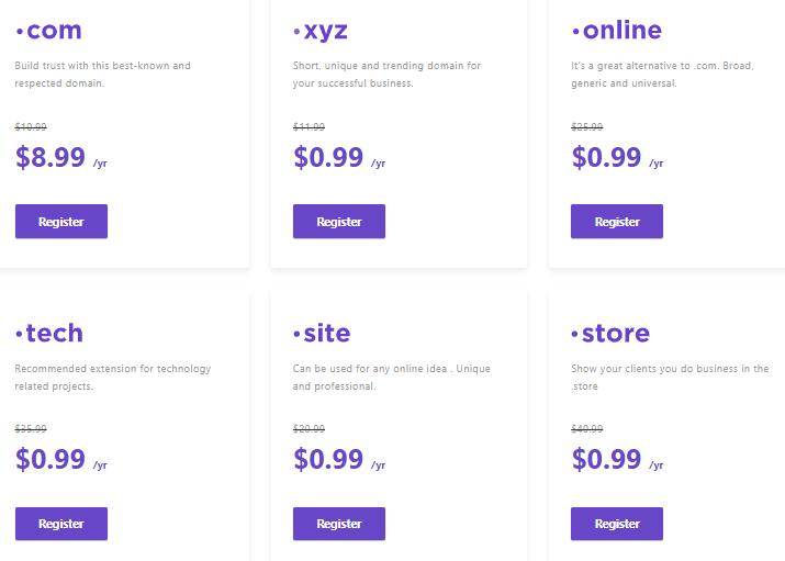 hostinger domains