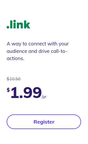 Hostinger .link pricing googiehost