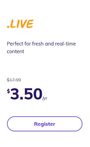 Hostinger .live pricing googiehost
