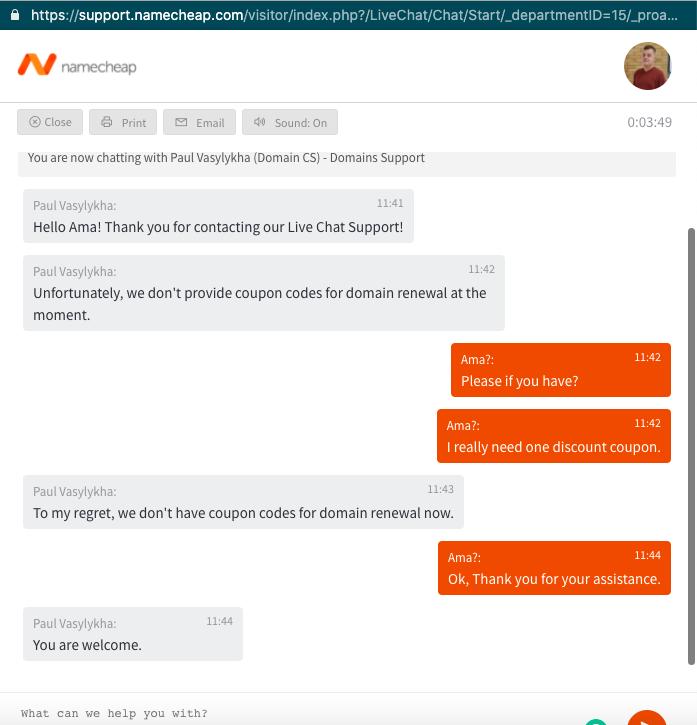 namecheap support