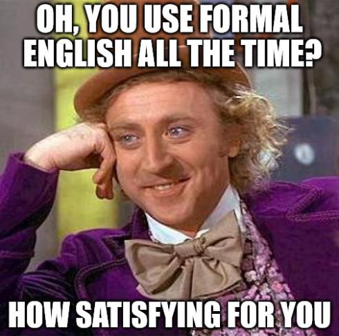 incorrect English meme