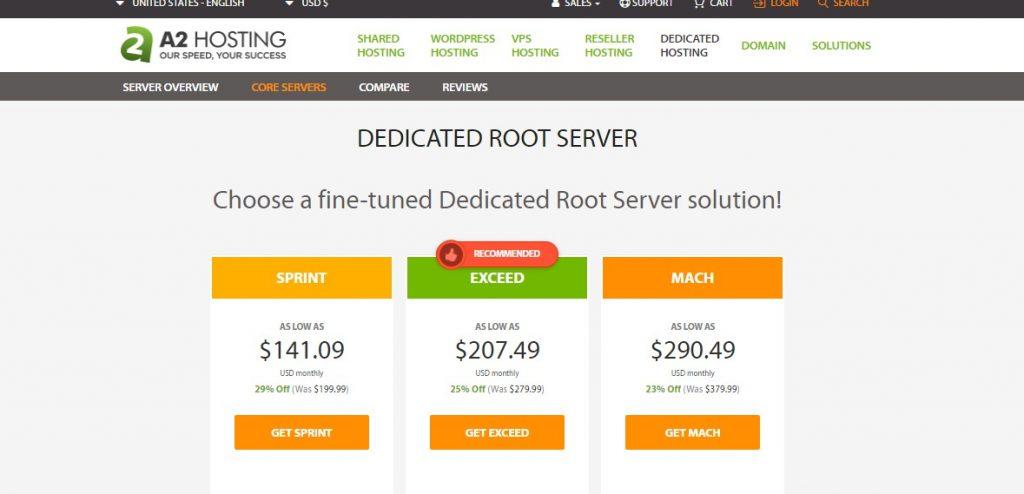 A2 Hosting Best Dedicated Server Hosting