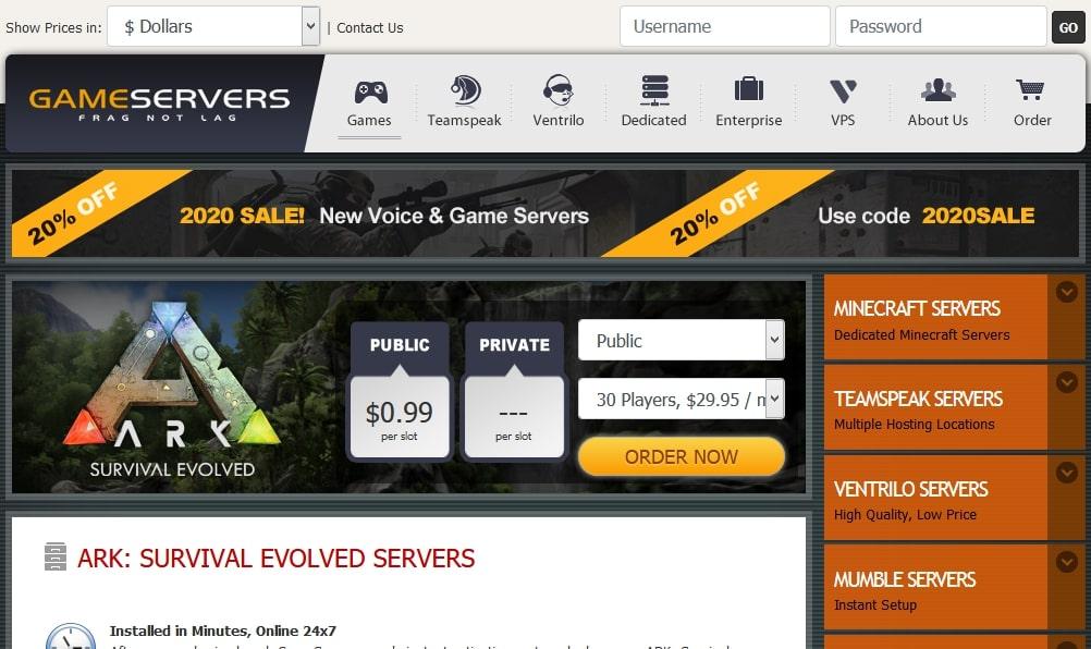 Gameservers ARK Server Hosting Googiehost