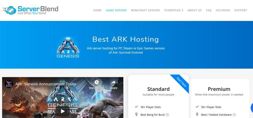 ServerBlend Ark Hosting GoogieHost