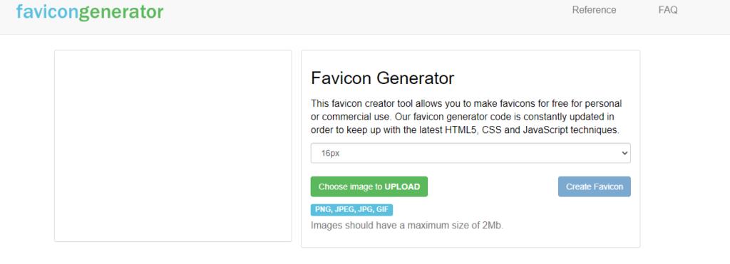 FaviconGenerator.com Free favicon Generator