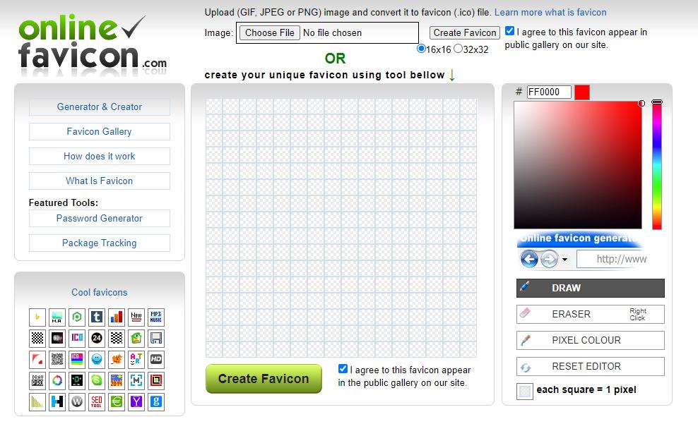 OnlineFavicon Free Favicon generator