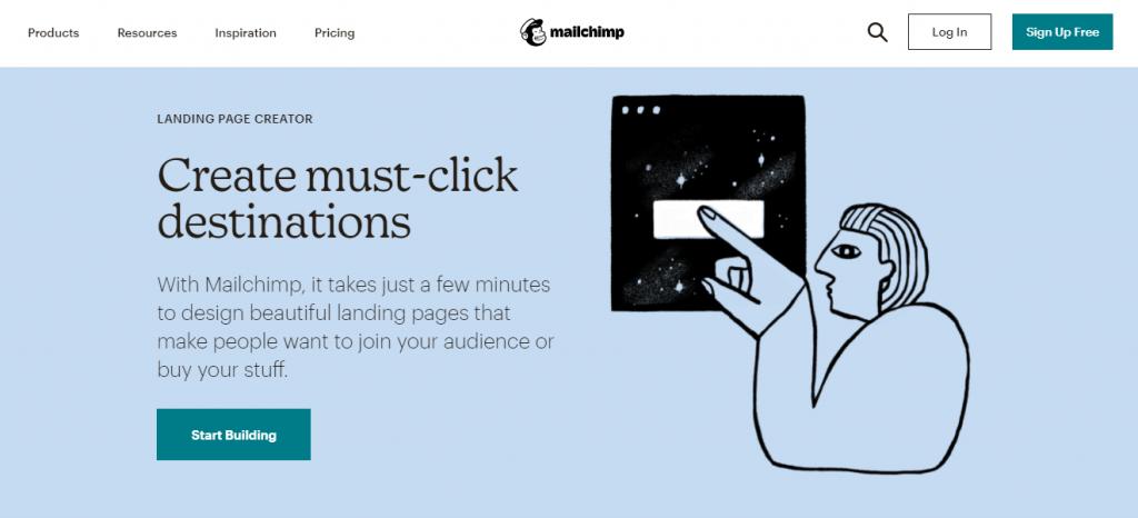 MailChimp landing Page Builder