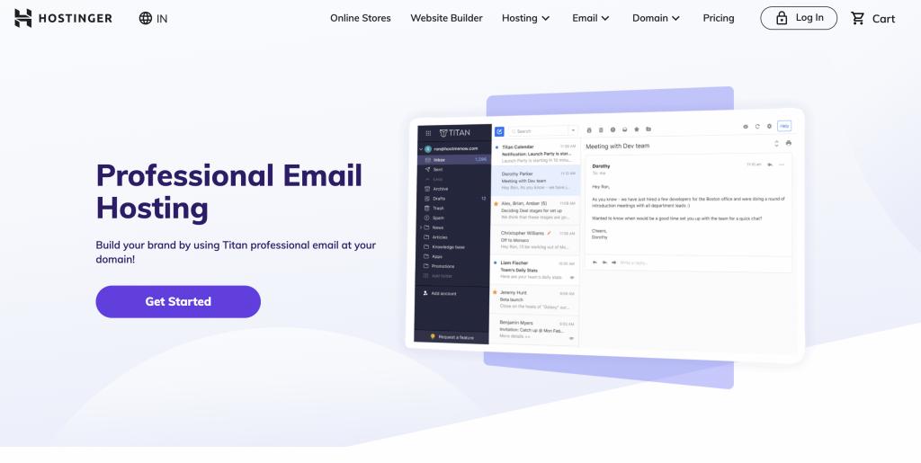 Hostinger Email Hosting Providers for small business