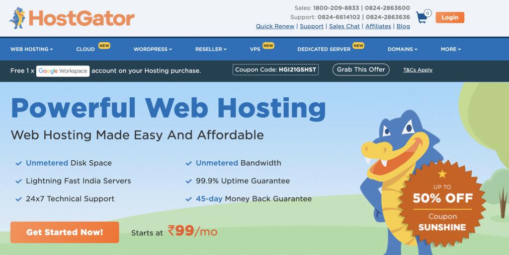 Hostgator Best Unlimited Web Hosting Plans