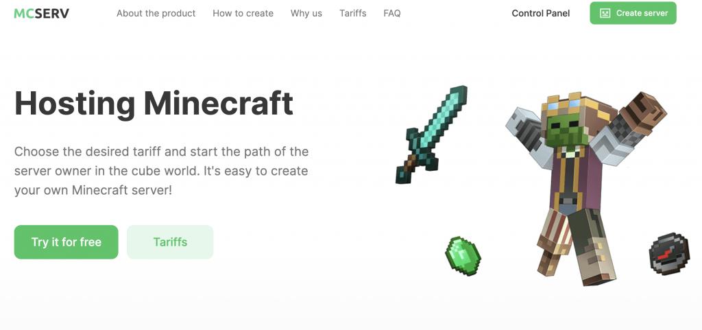 MCSERV free Minecraft server