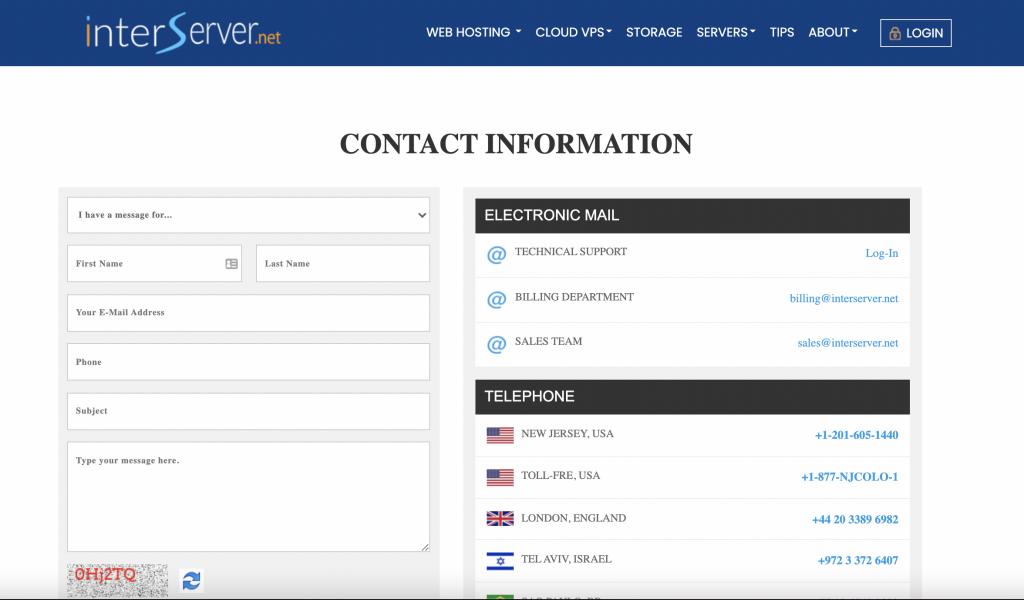 InterServer Customer Support: