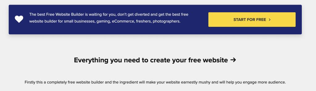 Create Free Website with Free Website Builder